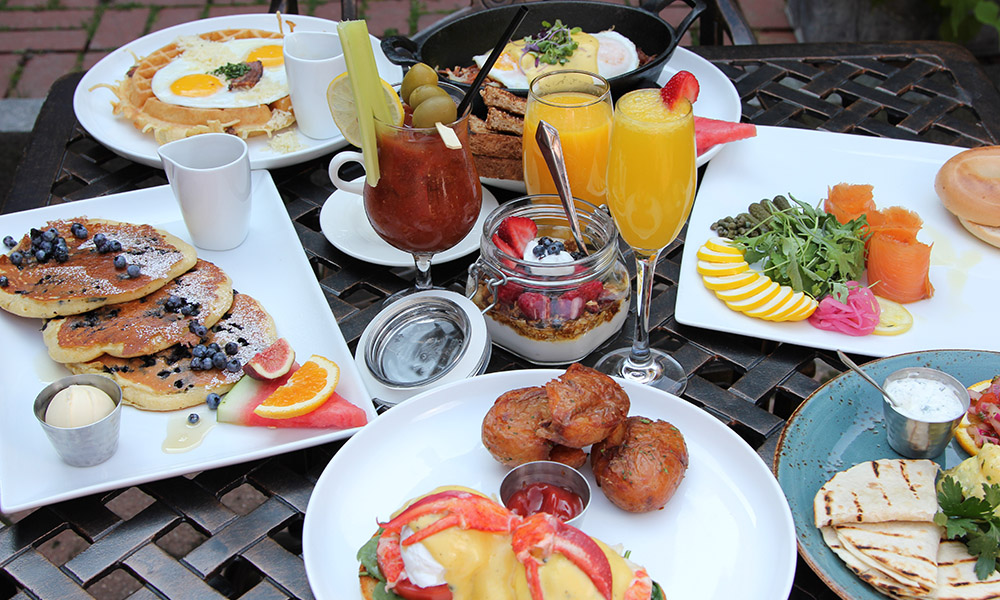 A wide selection of breakfast favorites to start the day