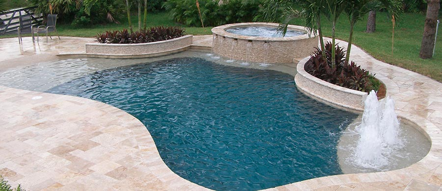 South florida pool builders pool tek of the palm beaches for Pool design questions