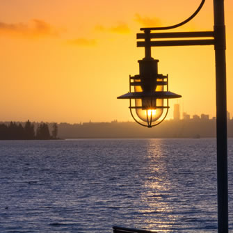 Lake Washington Lamp Post
