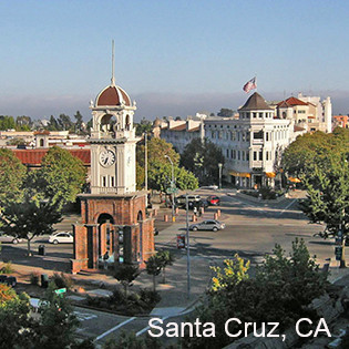 Santa Cruz California downtown