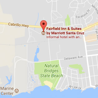 Map of Santa Cruz California hotel