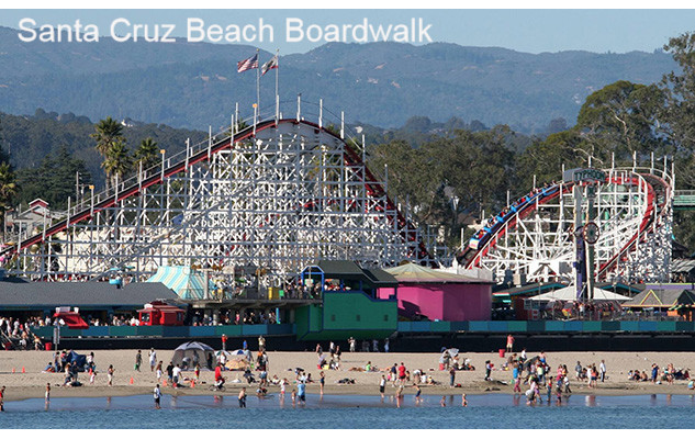 Santa Cruz Beach Boardwalk Amusement Park